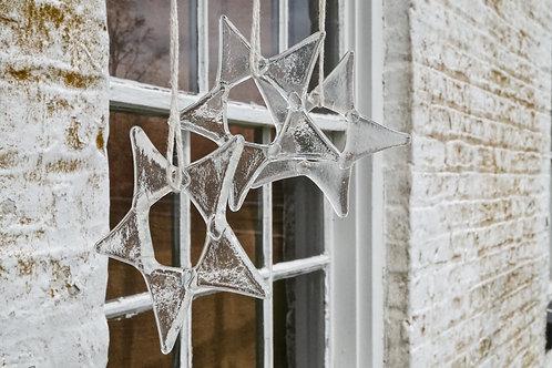 Clear Glass Star Ornament