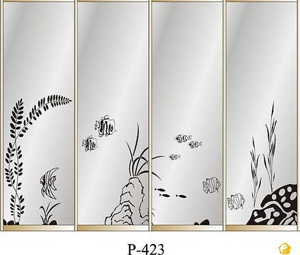 Пескоструйные рисунки для шкафов-купе. Четырехдверные.