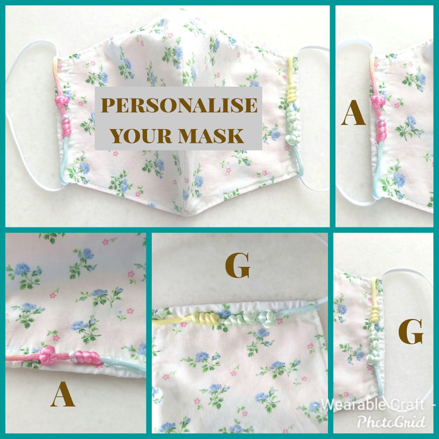 Personalise your mask with your name