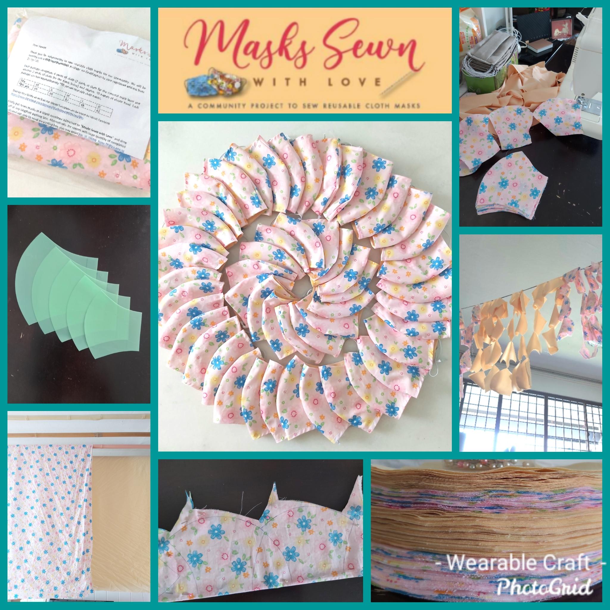Sewing fabric masks -3