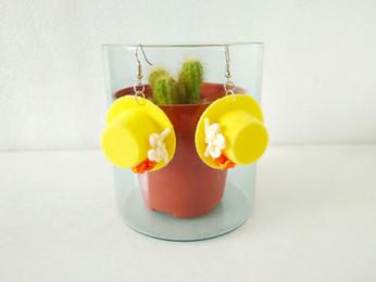 mini hat earrings