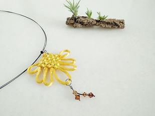 Weave fan pendant