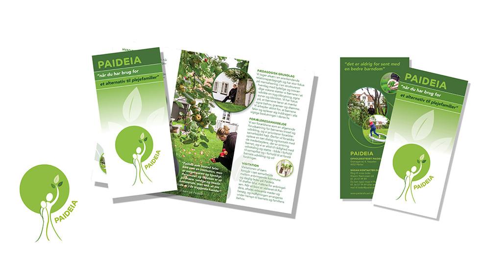 Logodesign og folder for Bostedet Paideia