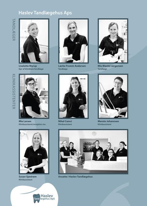 Haslev Tandlægehus  – medarbejderplanche