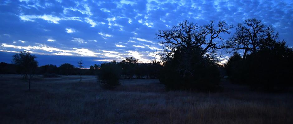 Skies at dawn over Solar-Wilson Village