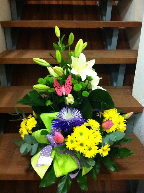 Centro de flor variadas