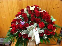 Centro grande de rosas