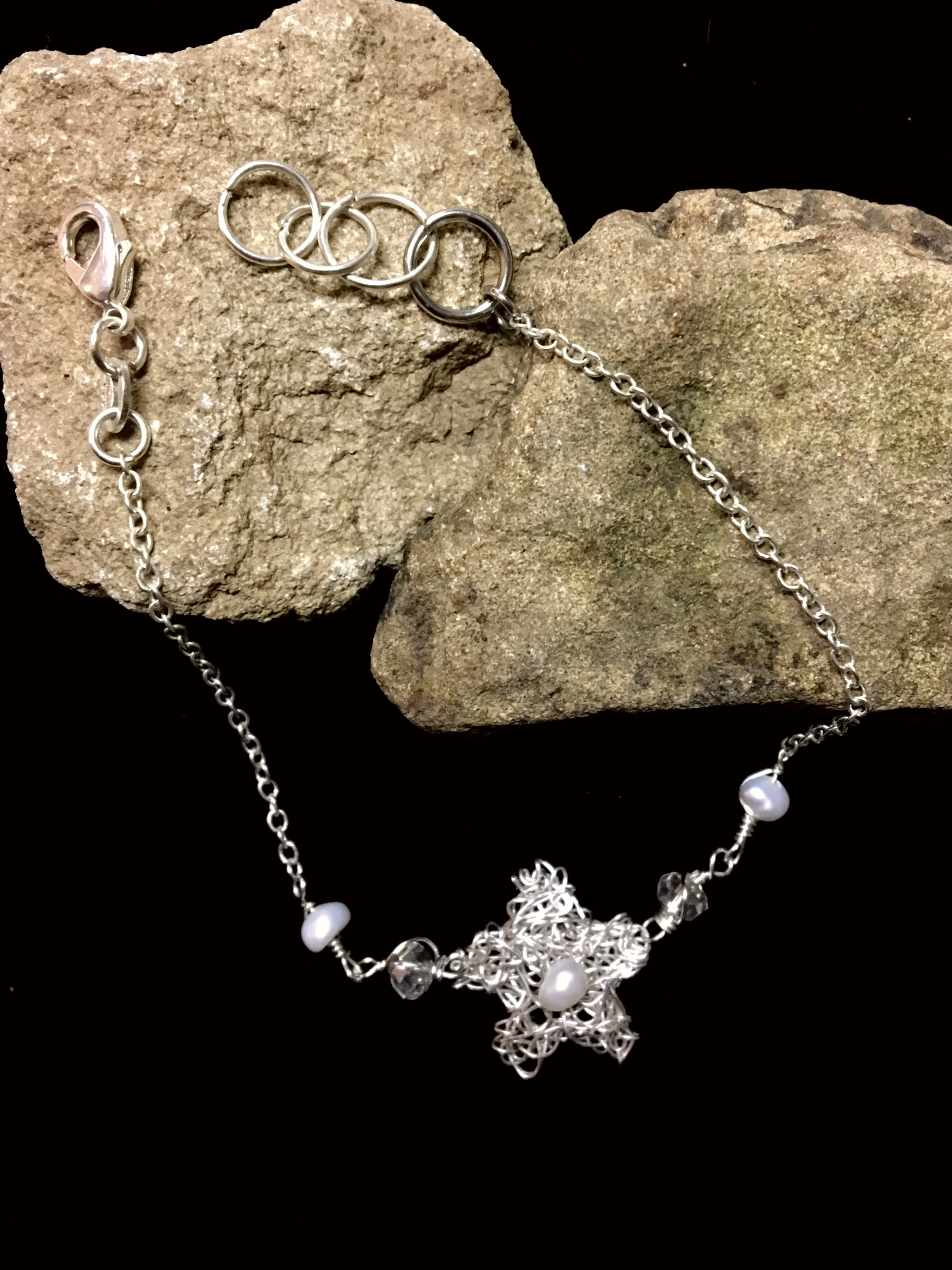 Candid Claire Bracelet - Tangled Flower - Silver Plated
