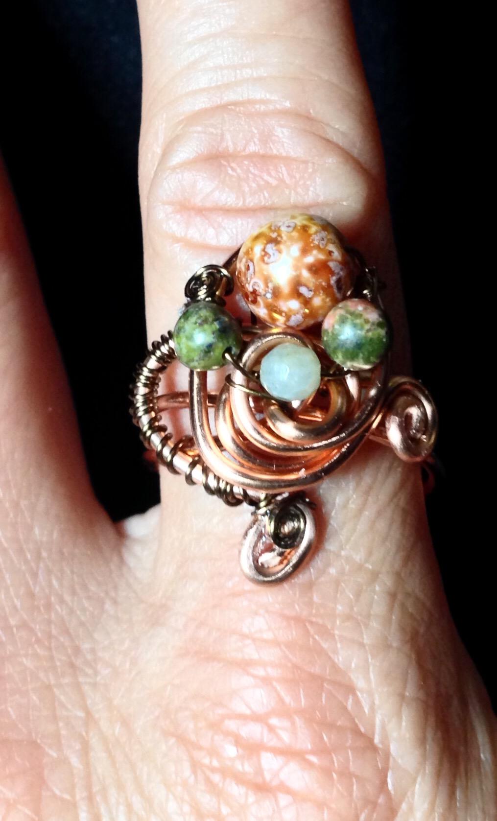 2015 Copper Beady Ring