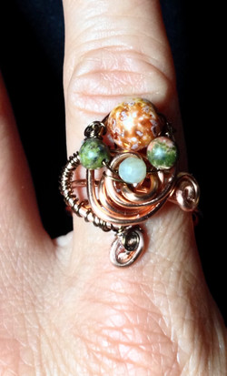 2015 Copper Beady Ring
