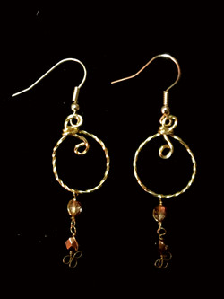 Candid Claire Earrings - twist Loop - silver plated gold color
