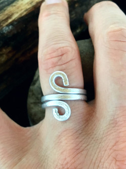 Ethereal Esther Ring - Infinity - Aluminum Silver