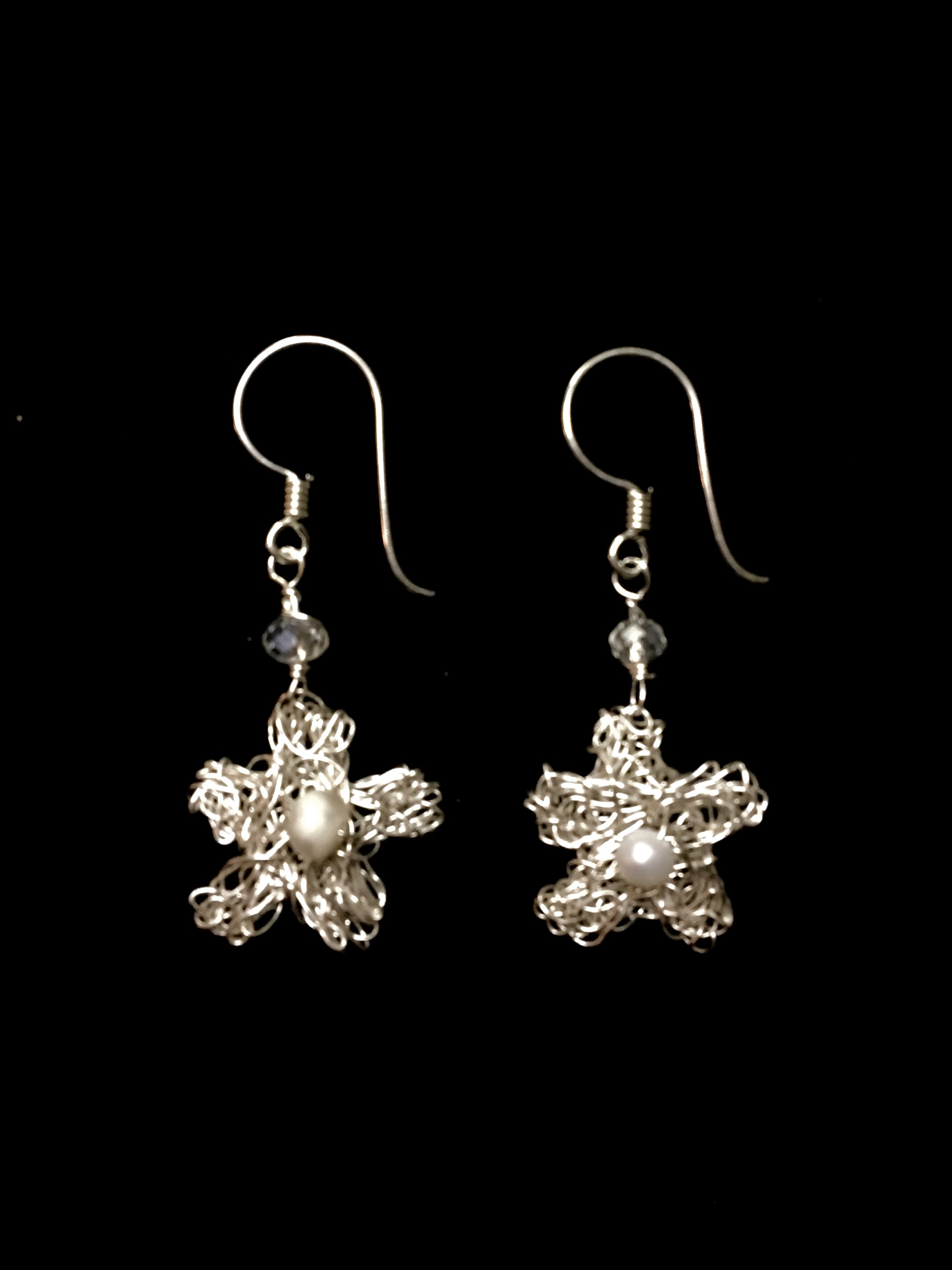 Candid Claire Earrings - Tangled Flower - Silver Plated