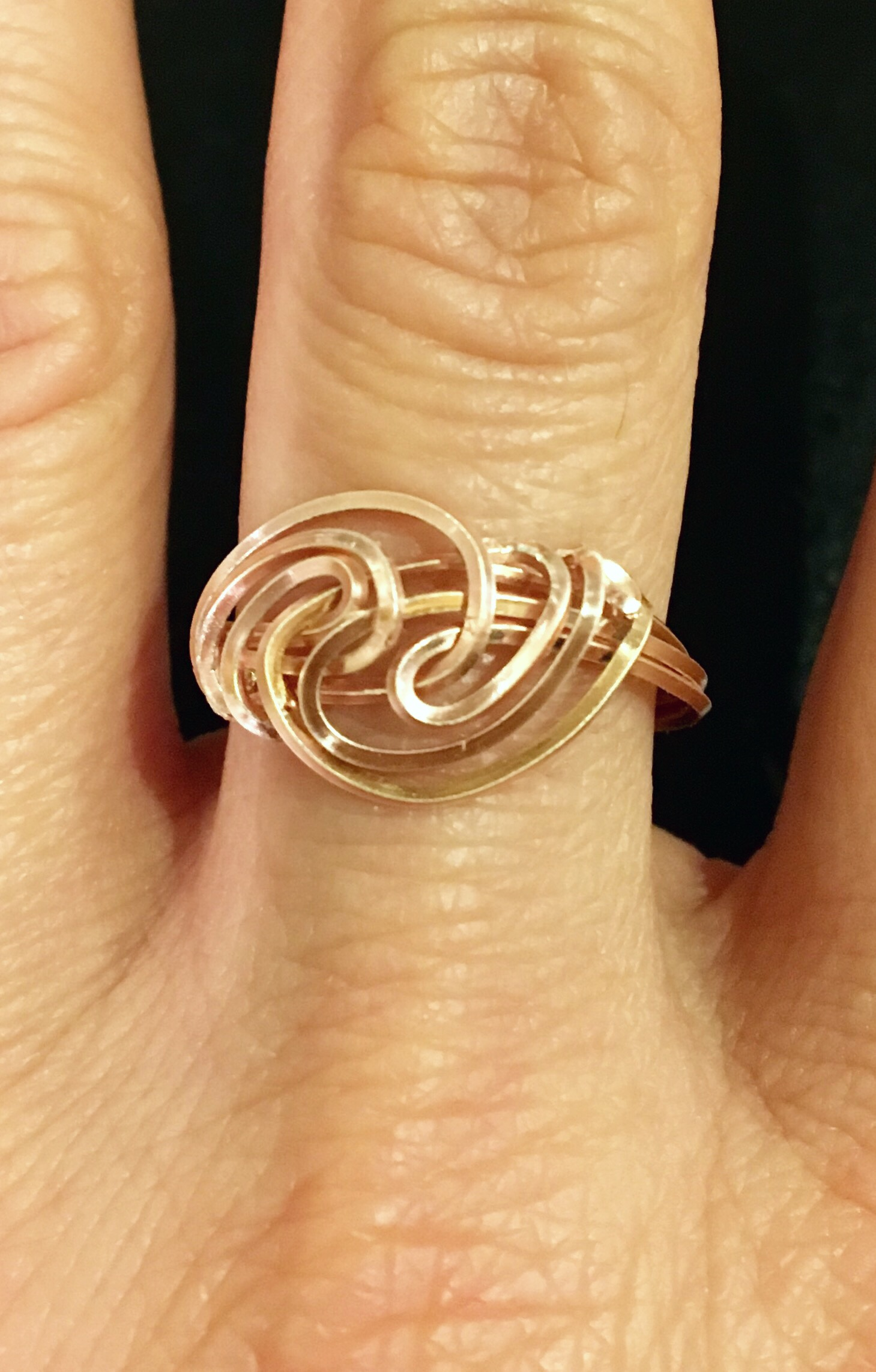 Candid Claire Ring - Silver Plated Rose Gold color