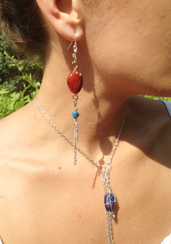 Transition Charm Chain and Transition earring