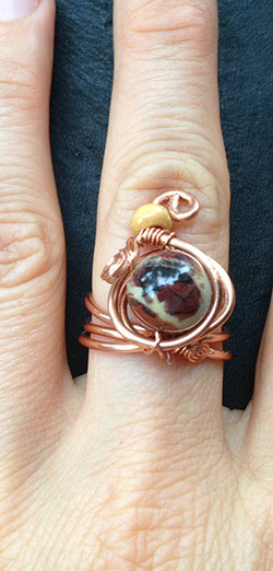 2014 Ring Copper and beads 2