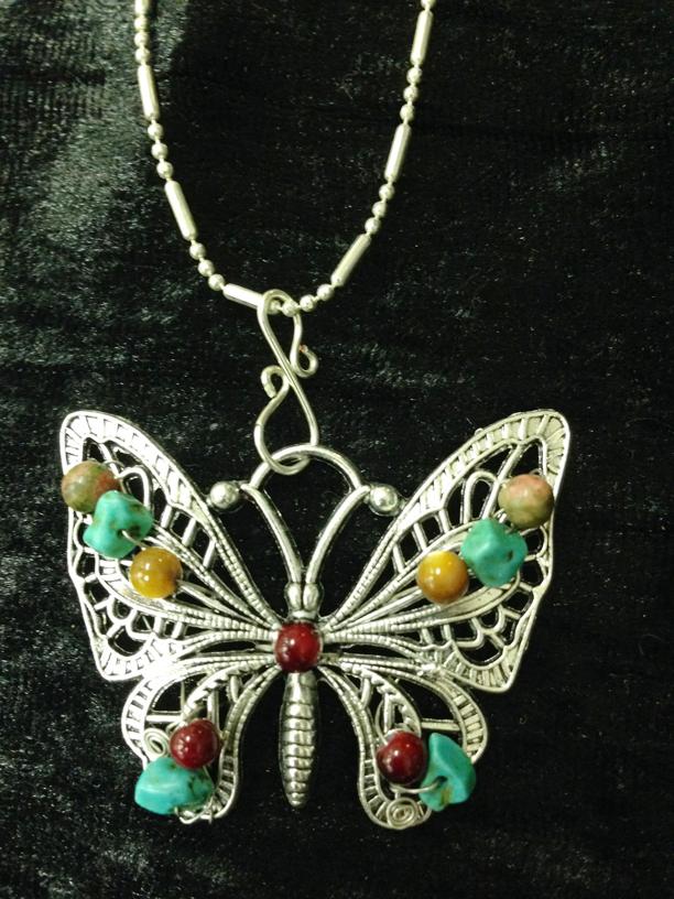 2014 Pendant Beaded Butterfly