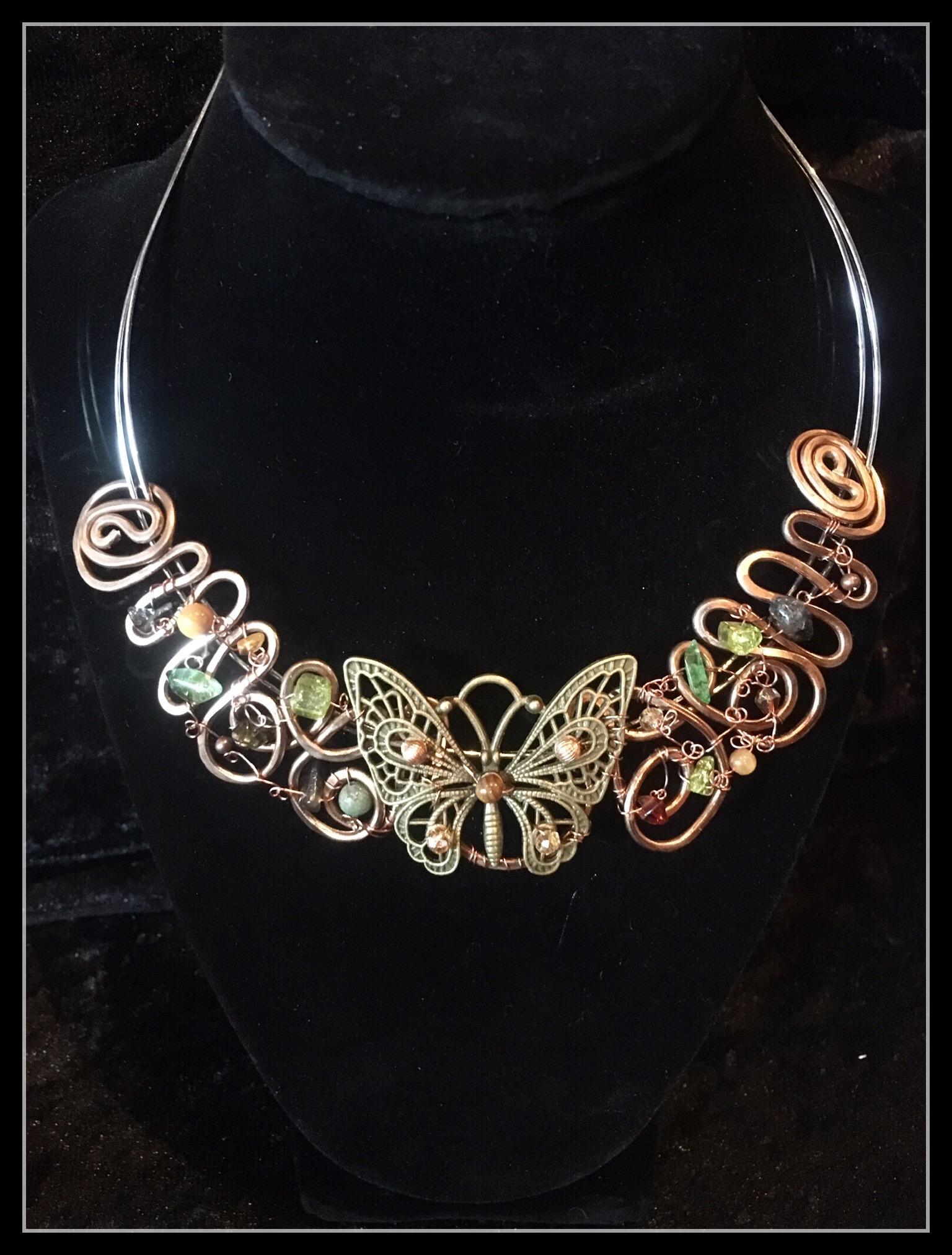 2016 FF Butterfly Brass Necklace