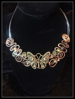2016 FF Butterfly Brass Necklace