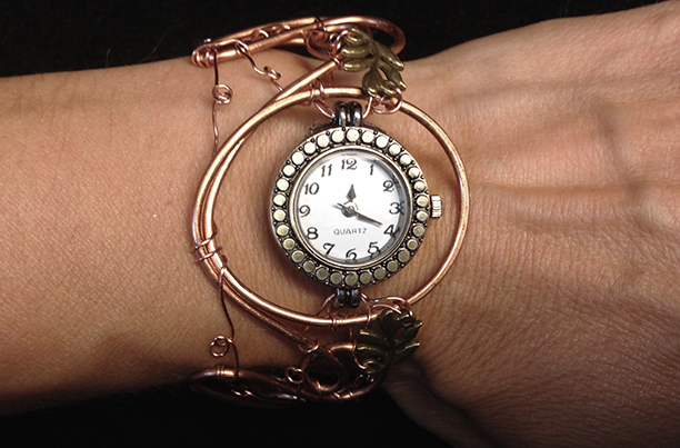 2014 Copper Watch with brass leafs on hand