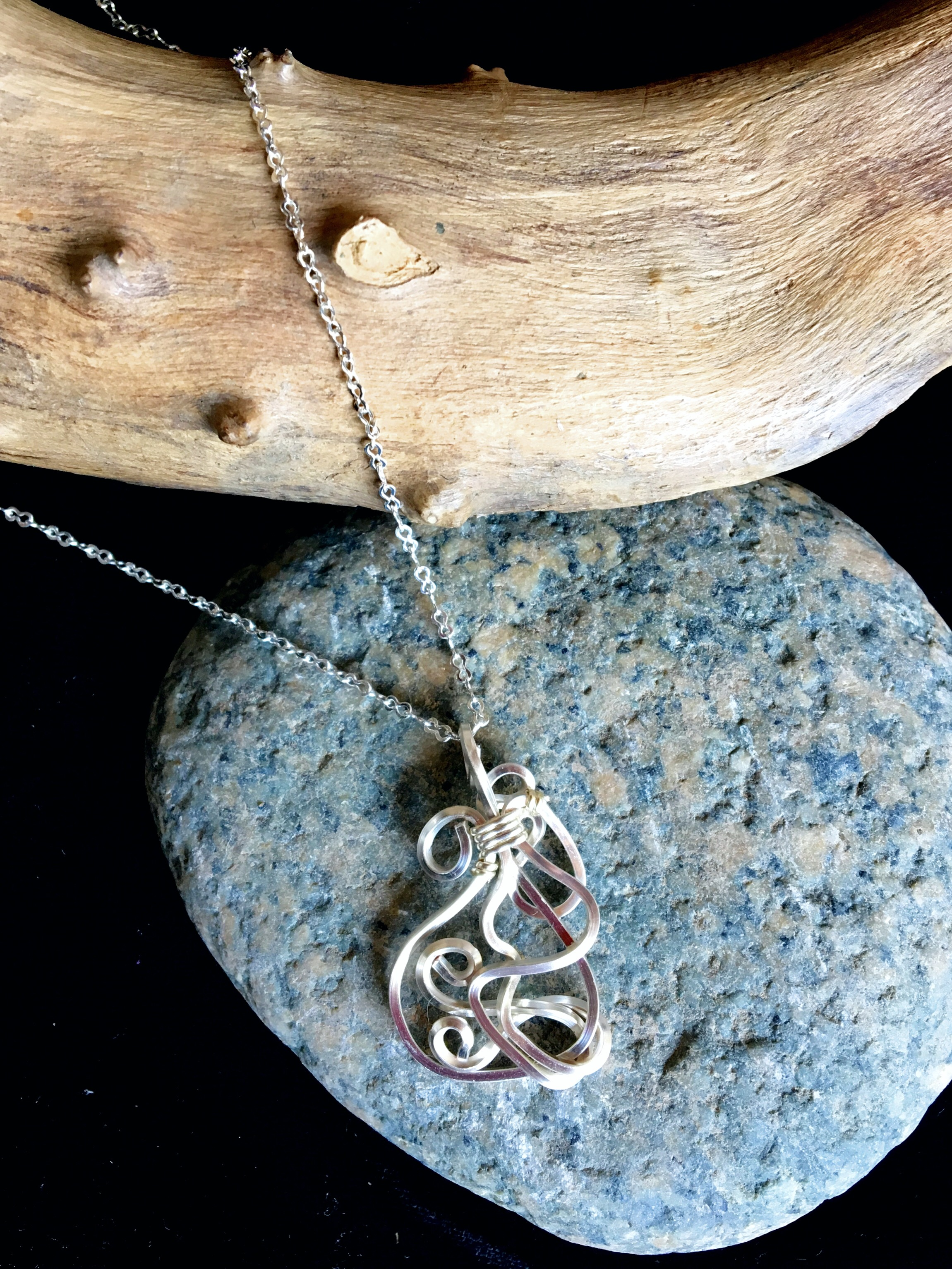 Candid Claire Necklace - Wavy - Silver Plated and Sterling