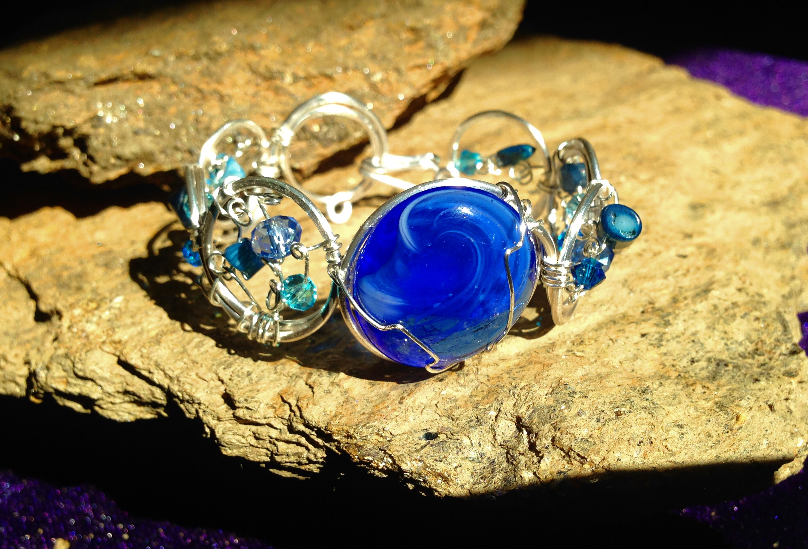 2015 Silver Blue Stone Bracelet