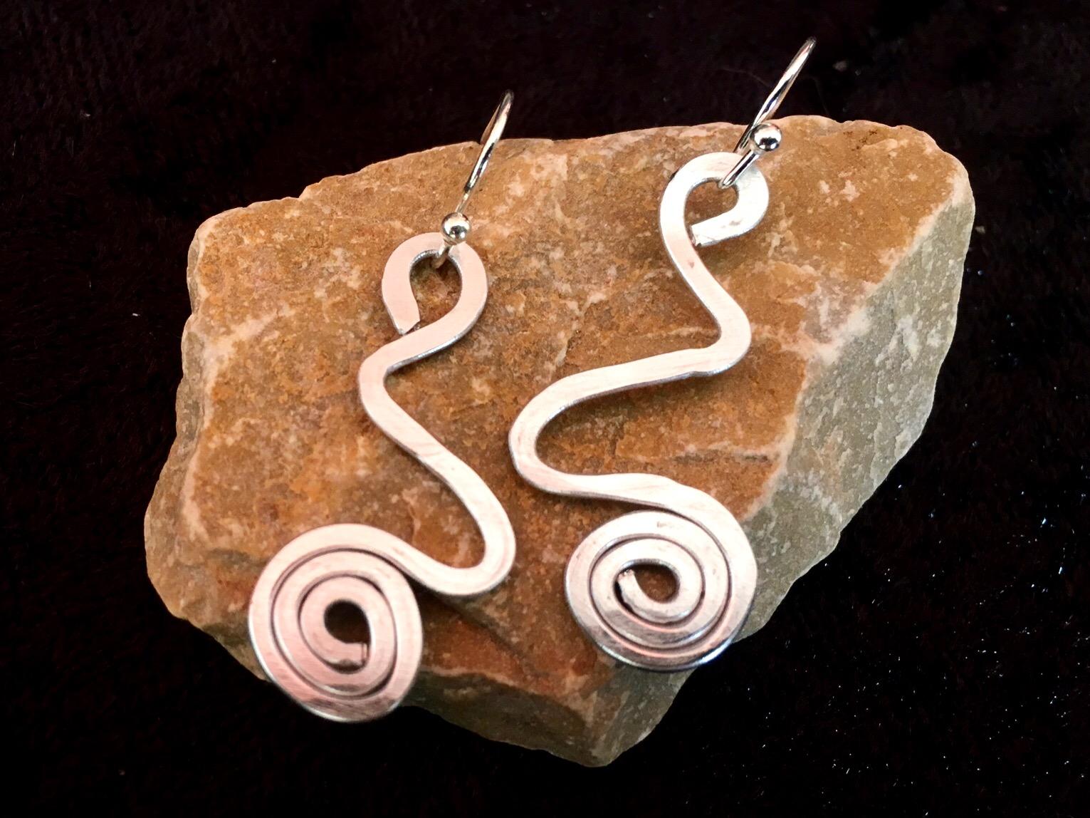 Ethereal Esther Earrings - short swirl