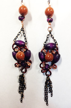 2014 Earrings Beads and chains