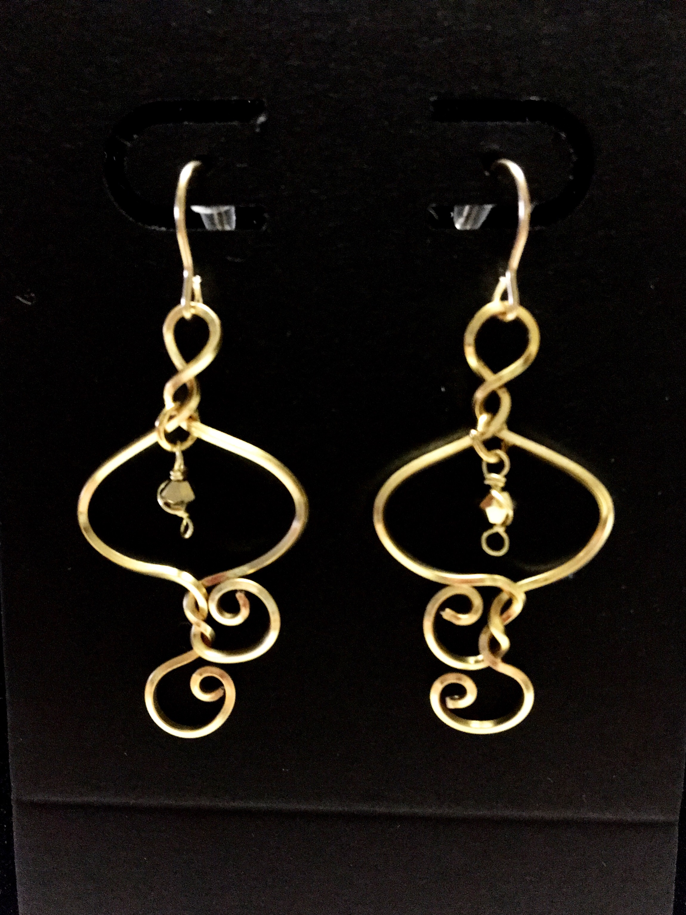 Candid Claire Earrings - Silver plated gold color - goldfilled hooks
