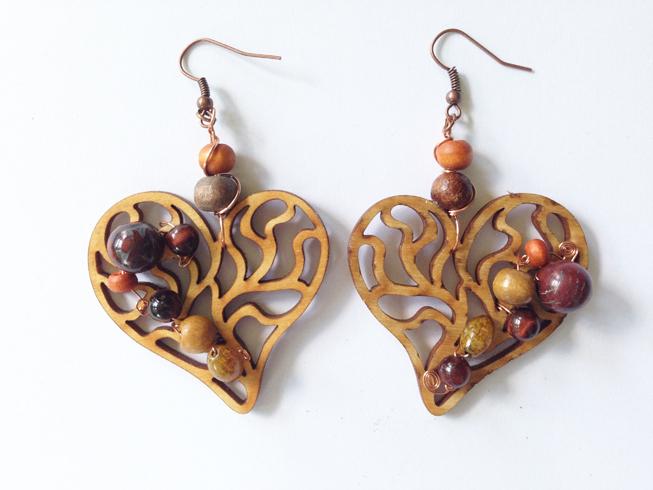 2014 Beaded Heart Earrings for Matt Tribal Jewelry