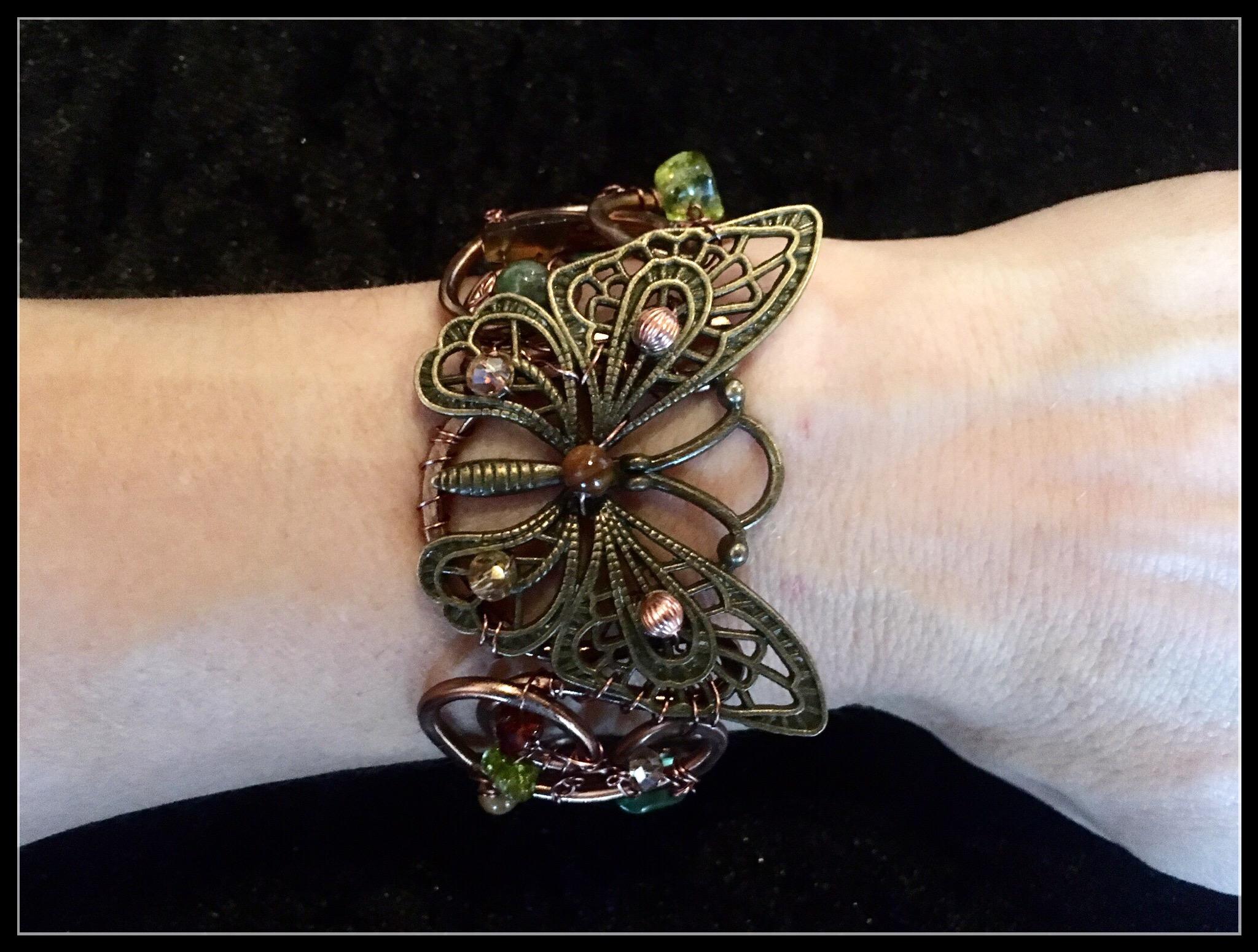 2016 FF Butterfly brass bracelet