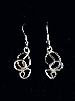 Candid Claire Earrings - Wavy - Silver Plated and Sterling hooks