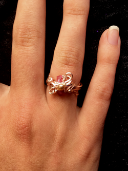 Dainty Deva Ring - Rose Gold color