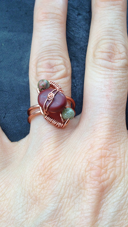 2014 Ring Copper and beads