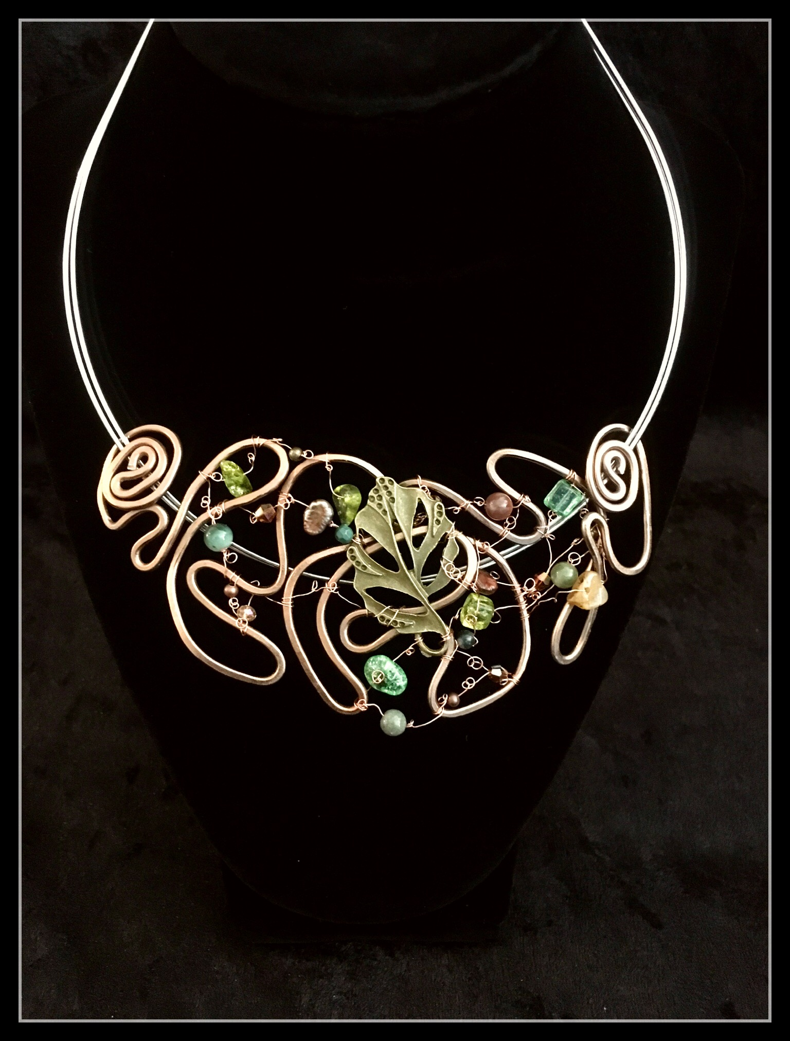 2016 FFS Big Leaf necklace