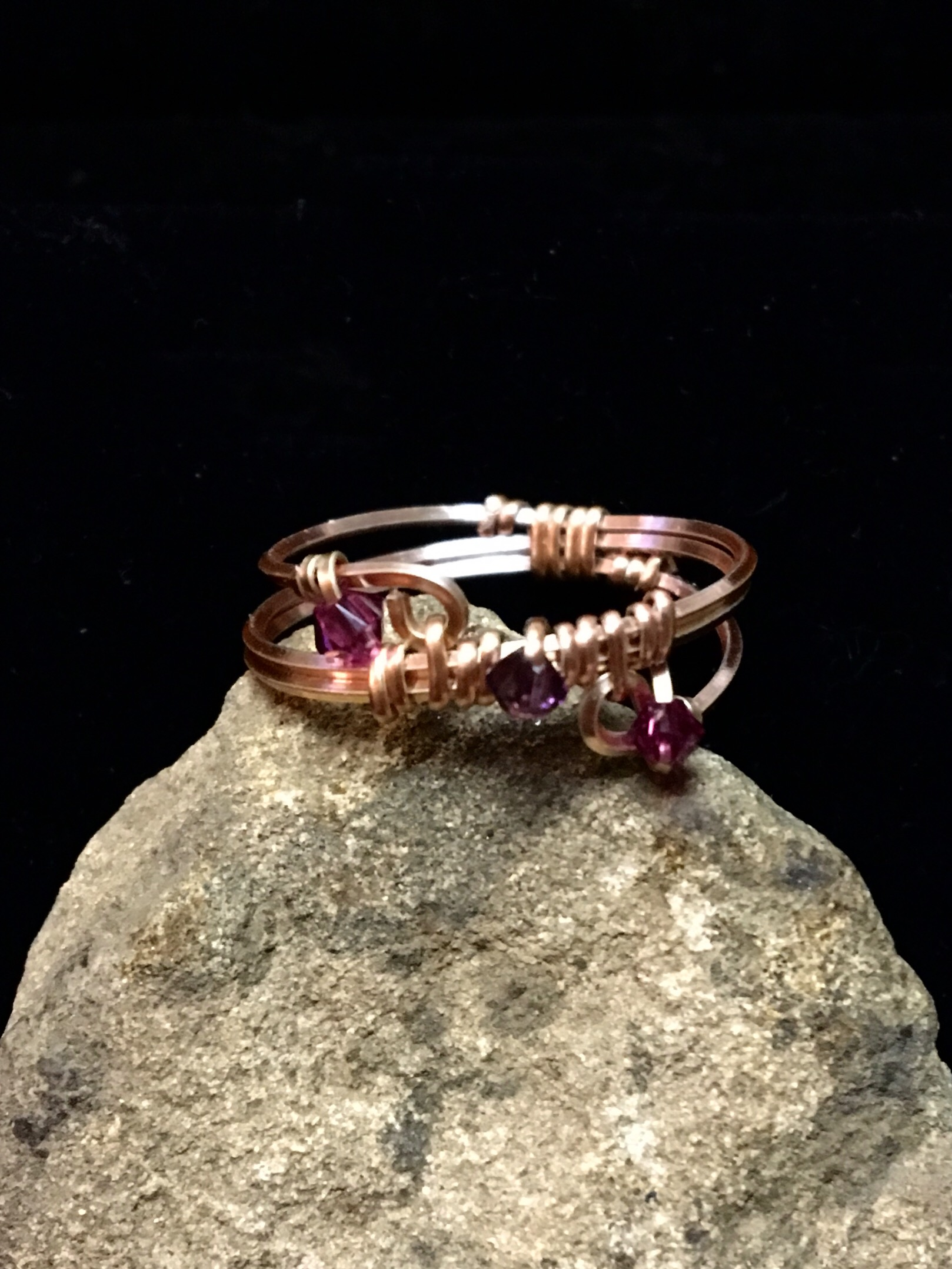 Dainty Deva Ring - Silver Plated Rose Gold Color