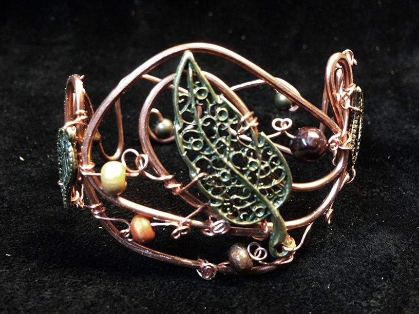 2014 Copper Cuff with big brass leaf.jpg