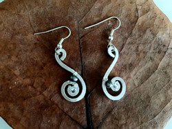 Ethereal Esther Earrings - Swirl and Pearl