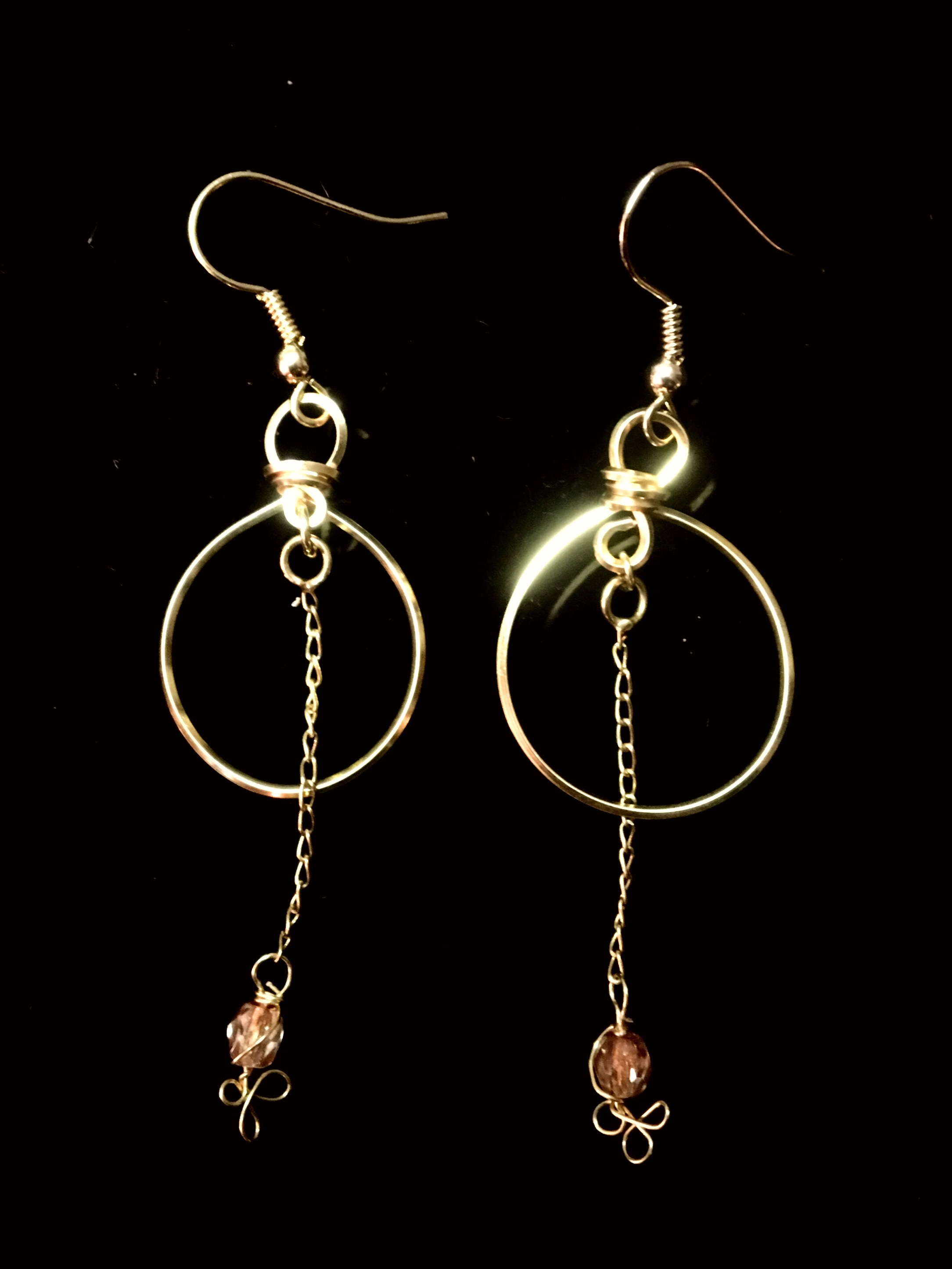 Candid Claire Earrings -  Loop - silver plated gold color