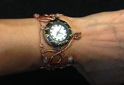 2014 Copper Watch with beads on hand
