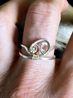 Candid Claire Ring - Wavy on finger - Silver Plated