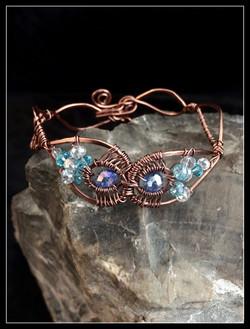 2016 copper owl mask bracelet