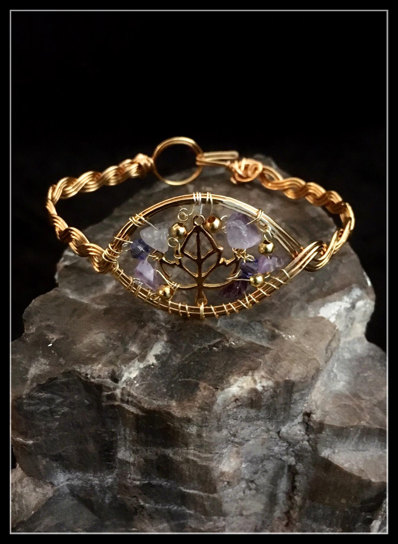 2016 Braid Bracelet Gold leaf