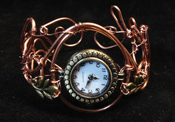 2014 Copper Watch with brass leafs
