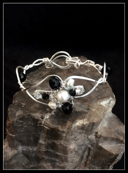 2016 silver B&W bracelet