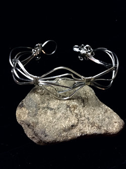 Candid Claire Bracelet - Waves - Silver Plated