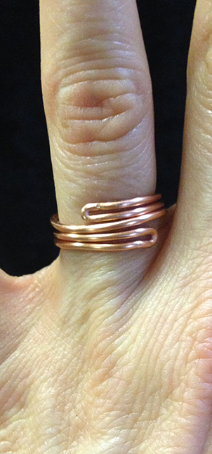 2014 copper ring simple crossing