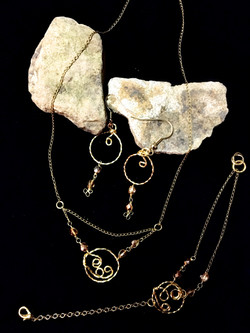 Candid Claire Set - loops - Silver plated gold color