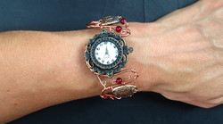 2014 Copper watch and red beads