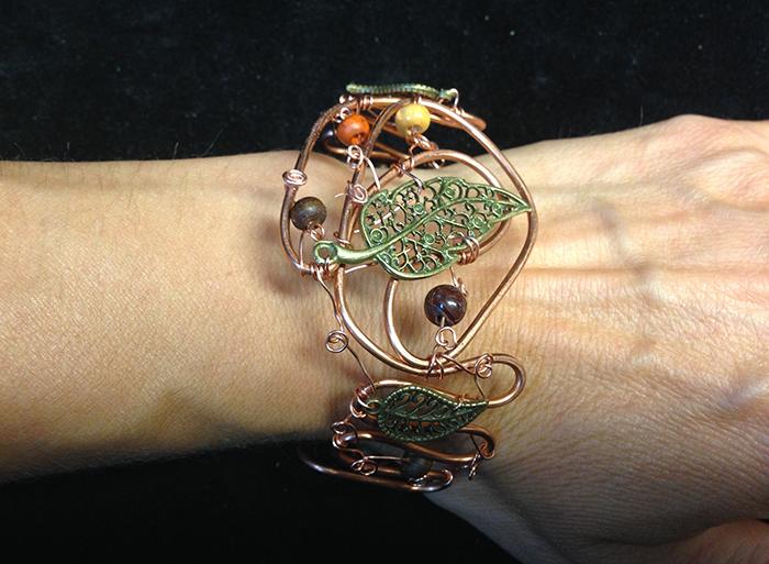 2014 Copper cuff with Brass leaf.jpg